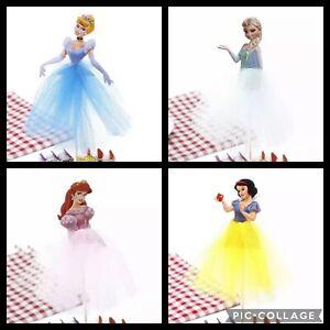 4x 20cm DISNEY PRINCESS Birthday CAKE topper Frozen Cinderella Belle Sleeping