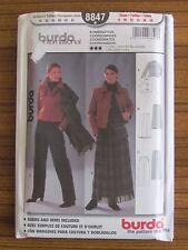 BURDA PATTERN - 8847 LADIES JACKET SKIRT PANTS 8 10 12 14 16 18 UNCUT