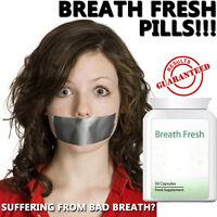 BREATH FRESH BAD BREATH PILLS TABLETS IMPROVE ORAL HYGIENE REMOVE BACTERIA