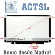 "N116BGE-EA2 LCD Display Pantalla Portatil 11.6"" HD 1366x768 LED 30pin eDP voz"