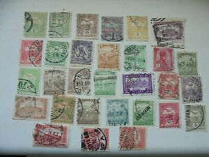 30 early stamps from Hungary all fine used with interesting postmarks