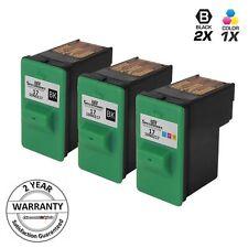 2pk for Lexmark 17 27 10N0217 10N0227 Black & Color Ink Cartridge X1290 X2230