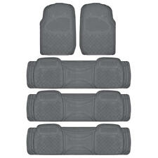 All Weather Rugged Gray Non-slip Trimmable SUV Van Floor Mat & Liner 5 pcs