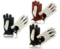 Mens Driving Gloves Chauffeur Leather Dress Fashion Classic Vintage Gloves - New