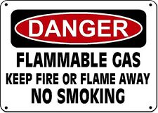 "Danger Sign - PROPANE NO SMOKING NO OPEN FLAME - 10""x14"" OSHA Sign"