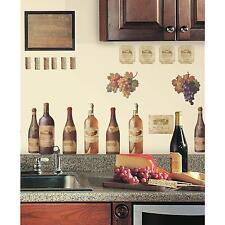 WINE TASTING wall stickers 56 decals Bottle Cork Merlot Chardonnay Pinot Grapes