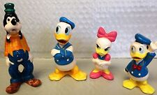 Lot of 2 Disney Donald Duck & Daisy & Goofy Ceramic Porcelain Figure Figurines~