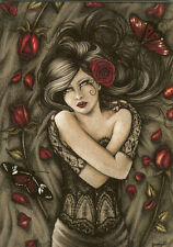 Jessica Galbreth What Dreams May Come Greeting Card New Roses Fairy Faery