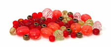 DIY Jewelry 1/2 lb Mix Warm Orange Red  Brown  Plastic Beads Seed bead 3~8mm