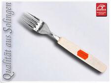 6 x acero inox. Tenedor Tenedor de mesa Solingen Kunststoffgr. Blanco