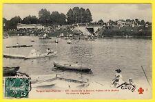 cpa 94 - NOGENT sur MARNE un jour de RÉGATES Grand BAL CHAMPÊTRE BRUS Barques