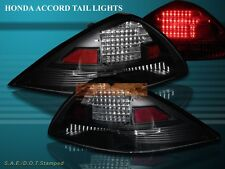 Fit For 2003-2005 HONDA ACCORD 2D COUPE JDM BLACK LED TAIL LIGHTS