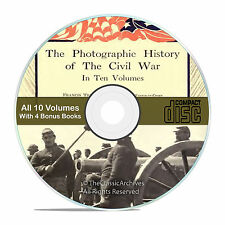 The Photographic History of the Civil War, 10 vol. set, pics, BONUS books CD-V56