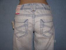 New Aeropostale Junior Girls Hailey Skinny Flare Denim Lt Wash Blue Jeans 5/6 R