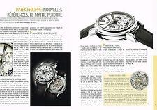 PUBLICITE ADVERTISING  2012   PATEK  PHILIPPE  montre  (3 pages)