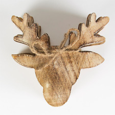 Deer Head Stag Wood Coasters Set of 6 Wooden Rustic Shabby Chic Style Christmas