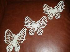 3 Piece Burwood White Butterflies Wicker Look #2093 , Mcmlxxvii