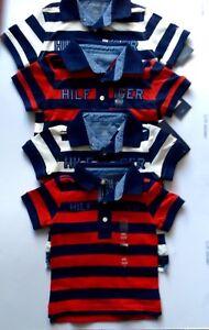 TOMMY HILFIGER BABY BOYS POLO COLLAR  STRIPED TSHIRT  BNWT 100%GENUINE