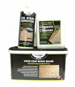 Bricks Blocks Clear Coat Sealer & Cleaner 1 2 3 Kit Revive Path Paving System