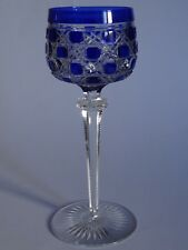 ONE VINTAGE ROEMER WINE GLASS CRYSTAL BACCARAT BLUE jeweled diamonds
