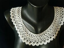 Old Antique Lace Collar endless combo coronation cord &crochet h made England