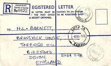 LL259 1976 Zambia *RIDGEWAY* Registered Letter Devon {samwells-covers}