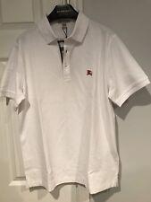 497f548b1e6 NWT Burberry Brit Men s Wheeler White Check Polo Shirt Size Large