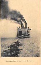 RUSSIA STEAM SHIP ICE BREAKER EN ROUTE POSTCARD (c. 1910)