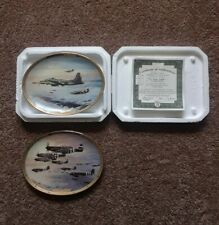 "2 Bradford Exchange ""Thunder In The Sky"" Wwii Wall Plates 1992-1994 Robt Taylor"