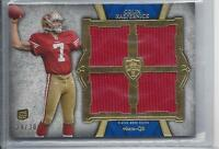 COLIN KAEPERNICK 2011 TOPPS SUPREME BLUE QUAD 49ERS ROOKIE JERSEY RC #D 29/30