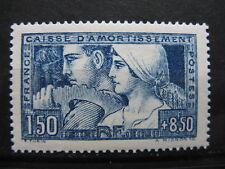 FRANCE neuf n° 252  LE TRAVAIL 1,50 F + 8,50 F bleu (1928) légère trace de ch.