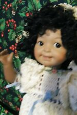 """11"""" Inch All Bisque African American Googly Reproduction Antique Crochet Clothes"""