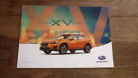 AUSTRALIAN CAR SALES ADVERTISNG BROCHURE, SUBARU 2018 XV MODEL