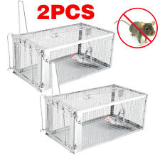 New listing 2Pcs Rat Trap Rodent Control Mice Mouse Catch Animal Live Cage door latch Medium