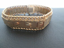 Altes Mode Armband vergoldet / Double MTL / Panzerarmband / 20 cm(#317#)