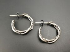 Hoop Earrings Unique Gothic Chic Handmade 925 Sterling Silver Thorn Small