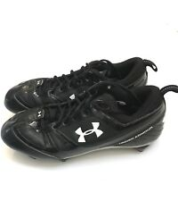 Under Armour CLICK-CLACK Black White Football Cleats 1099045-011 Mens Size 11