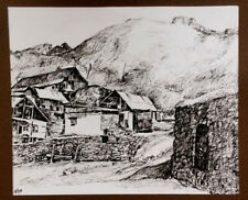 Village Landscape GRAPHIC Art Painting Drawing RUSSIAN ARMENIAN Artist- TOROSYAN