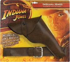 Indiana Jones Gun With Leather Look Belt & Holster Halloween Rubies