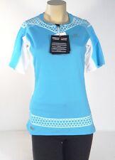 Salomon S-LAB EXO Blue & White 1/4 Zip Running Shirt Women's Large L NWT