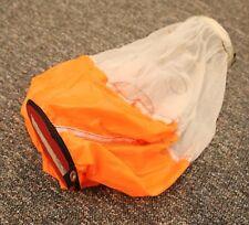 "Bruggemann spring loaded orange parachute pilot chute 7"" cap 19"" spring - mint"