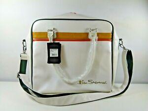 Ben Sherman White Orange Double Zip Computer Bag Cross Body Bag BNWT RRP £50
