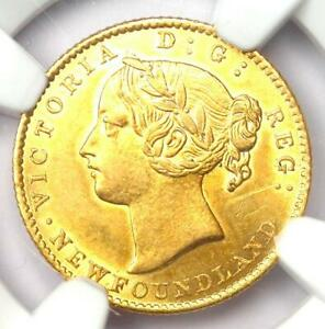 1870 Canada Newfoundland Gold Victoria $2 Coin. NGC Uncirculated Detail (UNC MS)