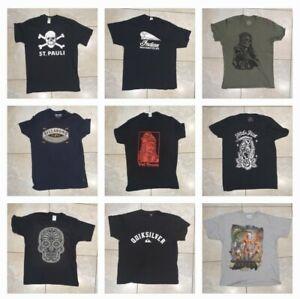 New/Used 9x Wholesale Golden Axe, Dracula, St Pauli, Hobo Jack Tshirt Large Mens