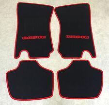 Autoteppiche Fußmatten für Ford Capri 2 & 3 schwarz/rot 4teilig Neuware