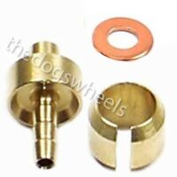 Hope 5mm Hydraulic Brake Hose Shortening Kit Olive Insert Copper Washer