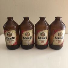Lot Of 4 Vintage Schmidt's Light Beer Bottles 12 Oz, Philadelphia