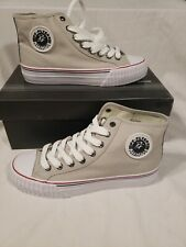 PF Flyers Center HI Reiss Canvas Classic Basketball Sneaker Grey Athletic Shoe