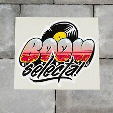 Boom Selecta Vinyl Sticker Decal Car Van Bike - 170mm x 148mm - SKU6571