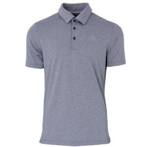 adidas Herren Golf Poloshirt Ultimate 2.0 Heathered Polo Golfshirt